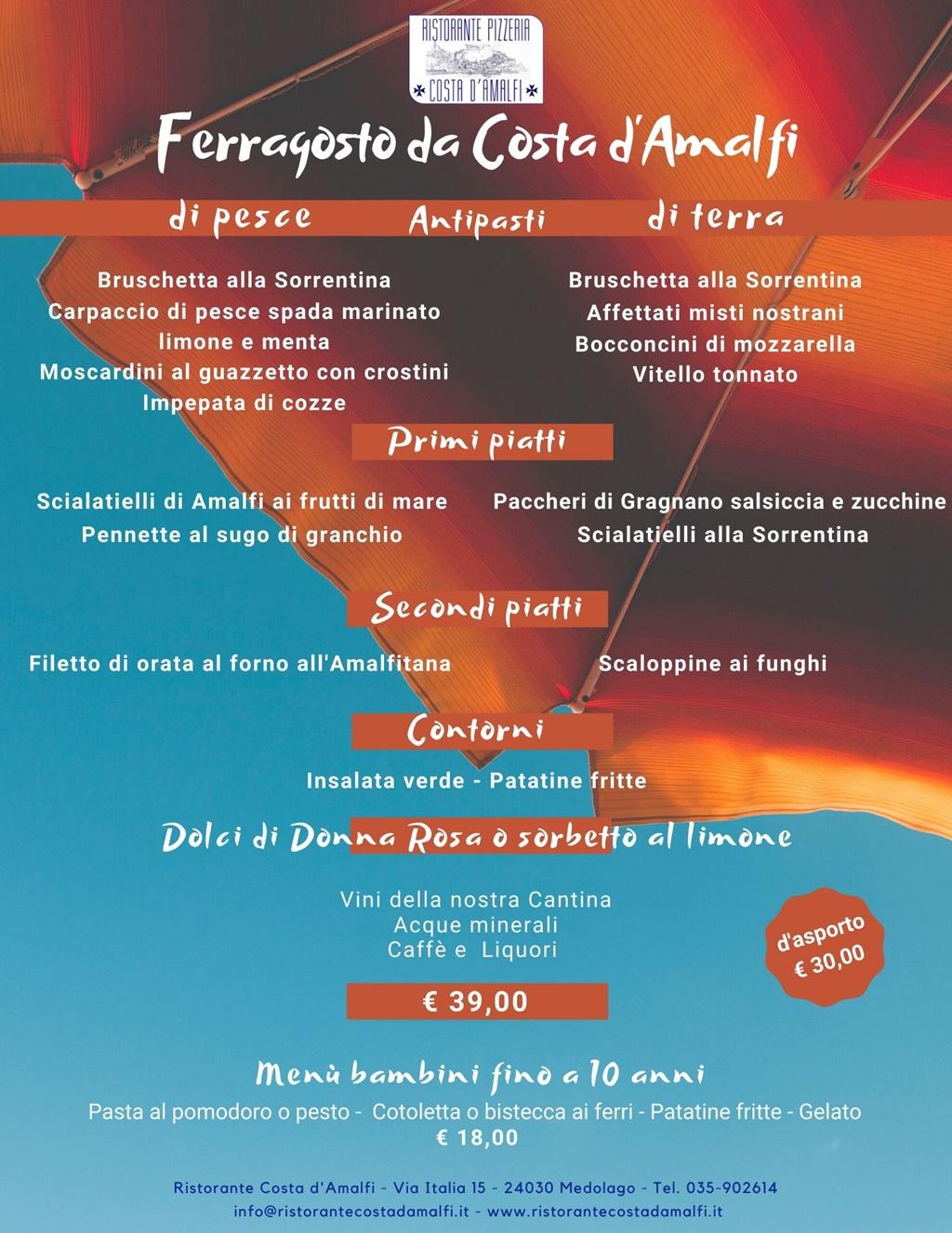 Ferragosto 2020 Costa Amalfi